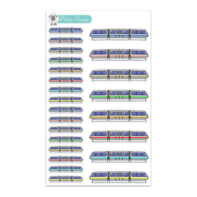 Monorails Stickers