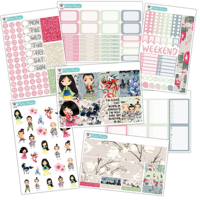 Mulan Planner Stickers Collection