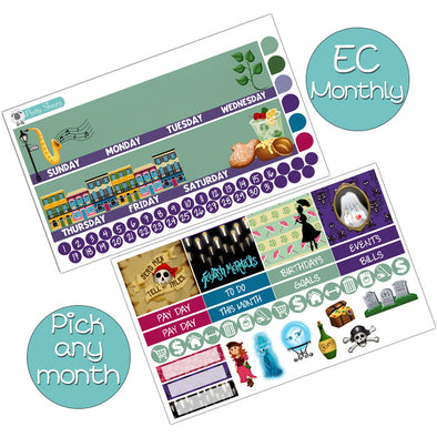 New Orleans Square Monthly Kit for Erin Condren Planner - Pick ANY Month!