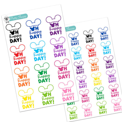 Oh Happy Day Stickers - Disney Planner Stickers