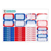 Patriotic Princess Planner Stickers Collection