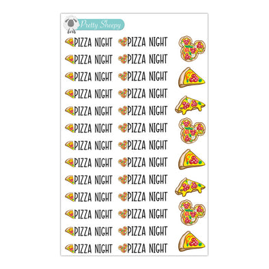 Pizza Night Stickers