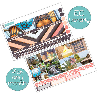 Polynesian Resort Monthly Kit for Erin Condren Planner - Pick ANY Month!