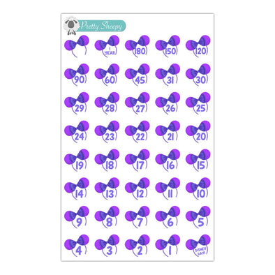 Potion Purple Countdown Stickers