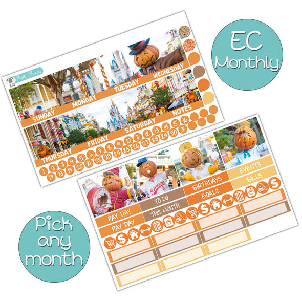 Scarecrows on Main Street Monthly Kit for Erin Condren Planner - Pick ANY Month!