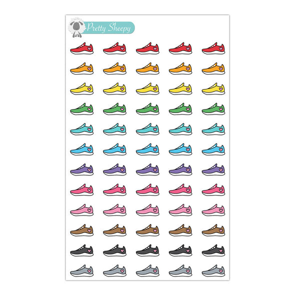 Running Shoes Stickers - Rainbow Doodles