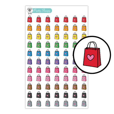 Shopping Bag Stickers - Rainbow Doodles