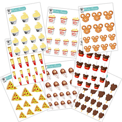 Mini Parks Snacks Stickers