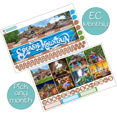 Splash Mountain Monthly Kit for Erin Condren Planner - Pick ANY Month!