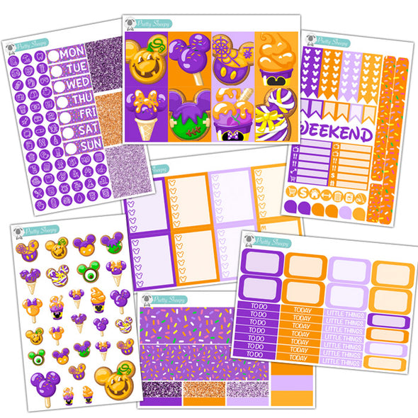 Spooky Sweets Planner Stickers Collection