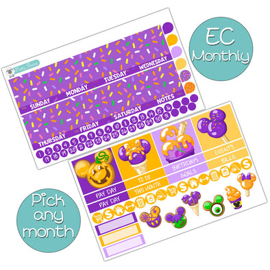 Spooky Sweets Monthly Kit for Erin Condren Planner - Pick ANY Month!