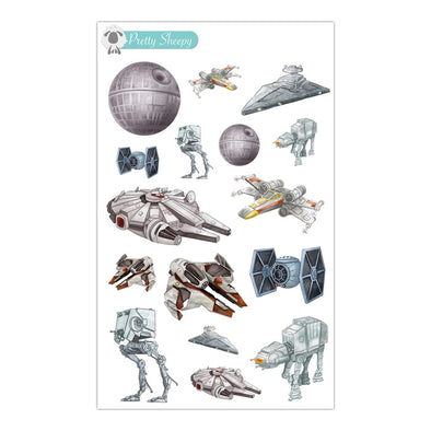 Star Wars Ships Stickers