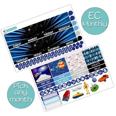Tomorrowland Monthly Kit for Erin Condren Planner - Pick ANY Month!