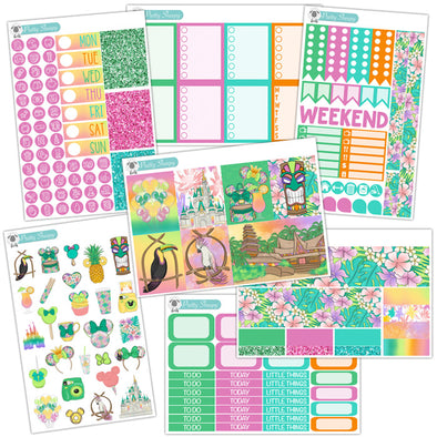 Totally Tiki Planner Stickers Collection