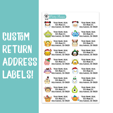 Christmas Tsums Custom Return Address Labels