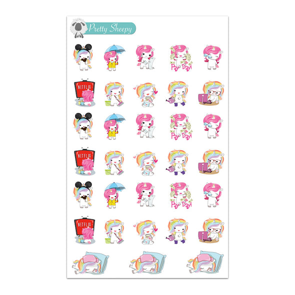 Unicorn Sampler Stickers