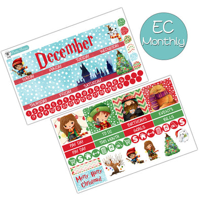 Very Harry Christmas December Monthly Kit for the Erin Condren Planner
