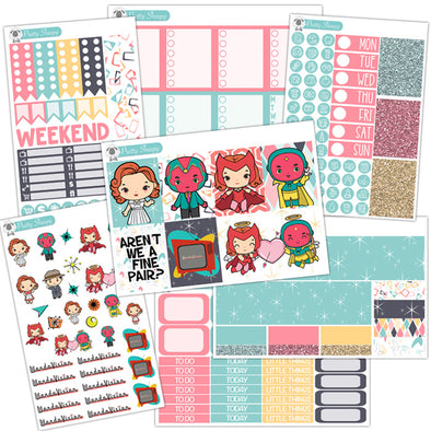 WandaVision Planner Stickers Collection