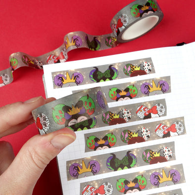 Villains Washi Tape Sample