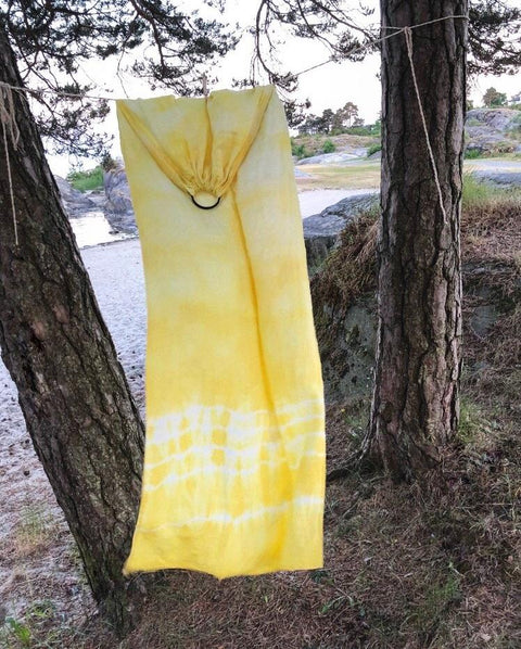 Golden Daisy - Plant Dyed - Ring Sling - Wildbloomfriends
