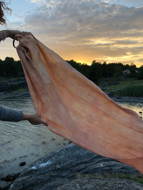 Marigold Peach - Plant Dyed - Sold Out - Ring Sling - Wildbloomfriends