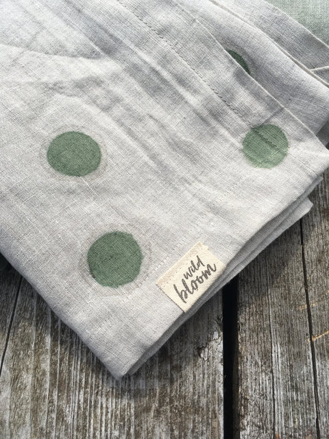 Blanket -  Green Polka Dot