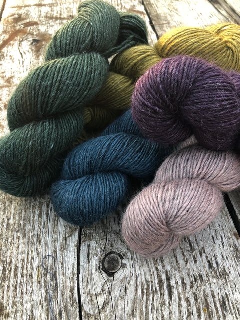 "Wool-Nettle Yarns - ""Wild Wool"""