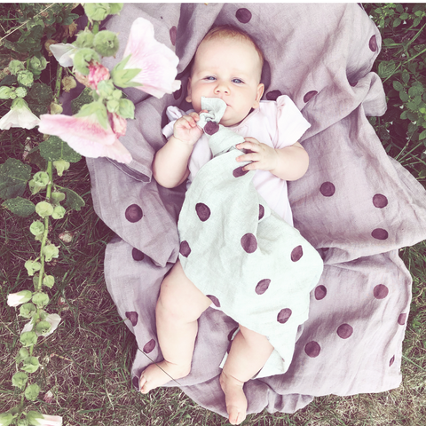 Blanket - Plum Polka Dot