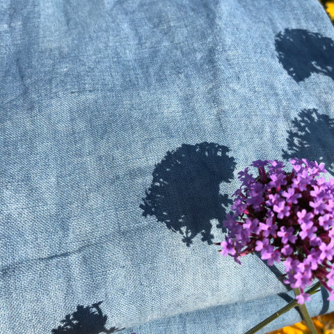 "Plant Dyed - ""Dreamy Sky"" Dark Blue"