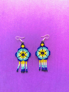 Huichol earrings - colibrilove
