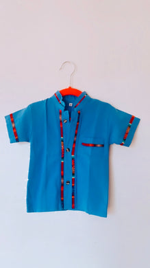 Toddlers button down shirt - colibrilove