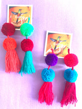 Pom Pom earrings - colibrilove