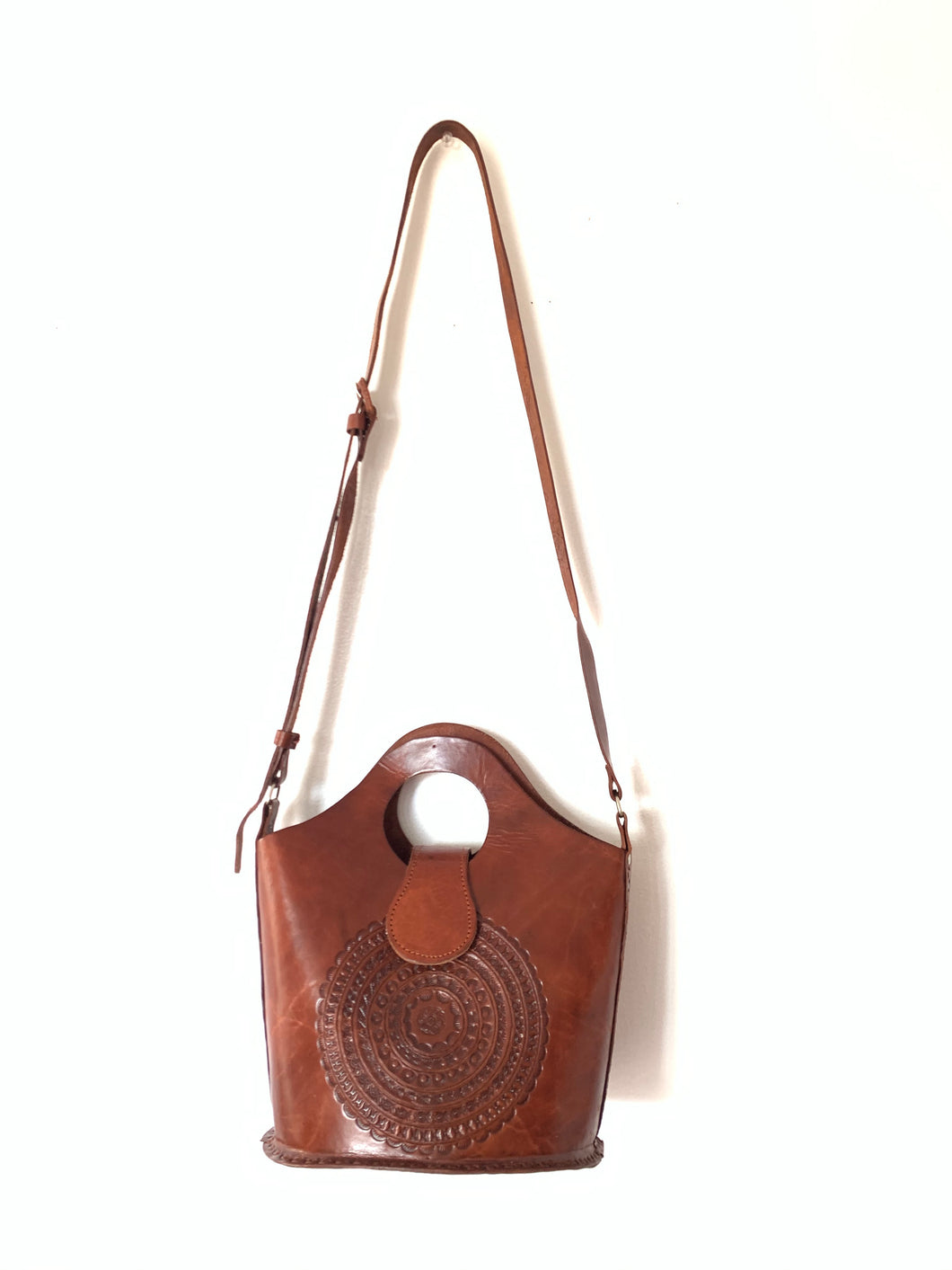 Chiapas leather bucket bag - colibrilove