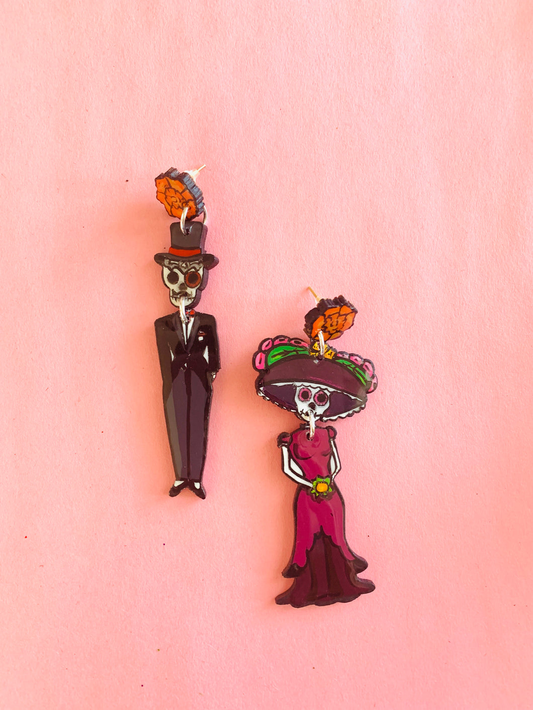 Day of the dead earrings - colibrilove