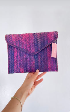Palm Leaf Clutch - colibrilove