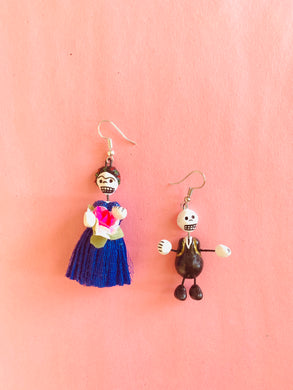 Skeleton earrings