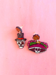 Skull earrings - colibrilove