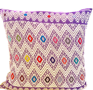 San Andres pillow case- purple