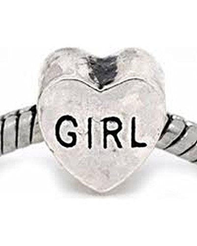 Girl Heart Charm Bead