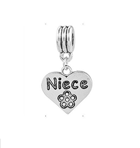 Niece Heart Dangle Charm