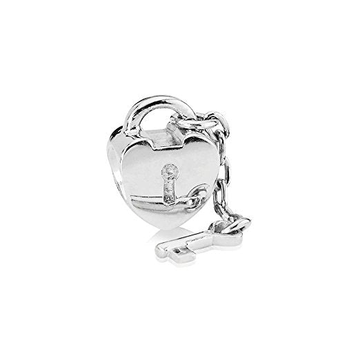 Heart Lock With Key Charm Bead Pandora