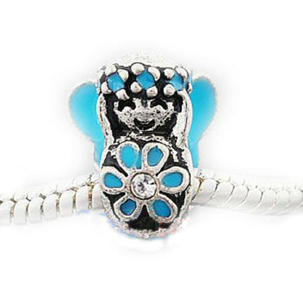Aqua Blue Flower Child Charm Bead