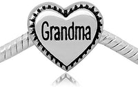 Buckets of Beads Stainless Grandma Heart Charm Bead
