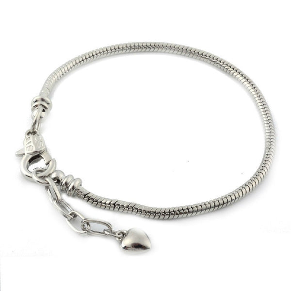 7 Inch Screw End Lobster Clasp  Charm Bracelet