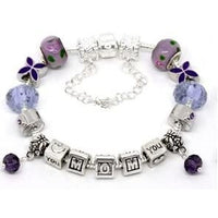 Purple Mothers Day  Bracelet