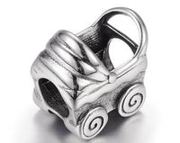 Stainless Steel Baby Carriage Stroller Charm Bead