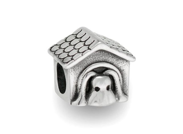 Stainless Steel Dog House Charm Bead