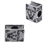 Stainless Steel Fairy Tale Story Book Charm Bead