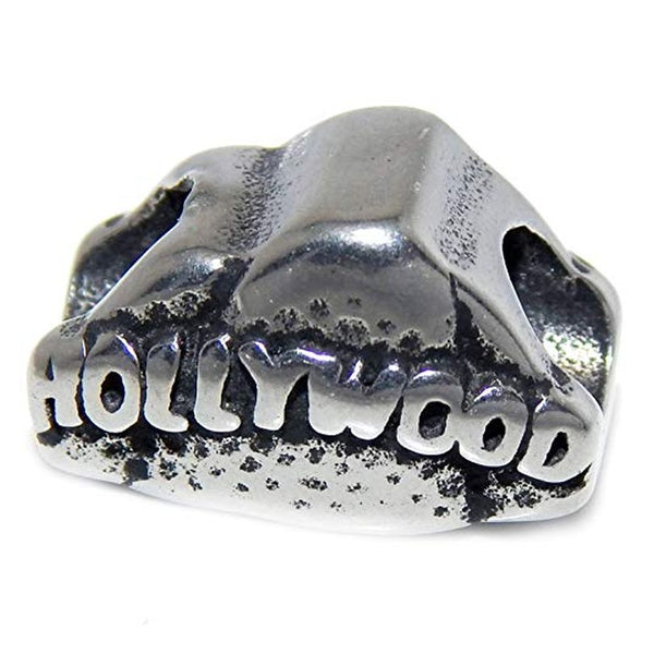 Stainless Steel Hollywood Sign Charm Bead