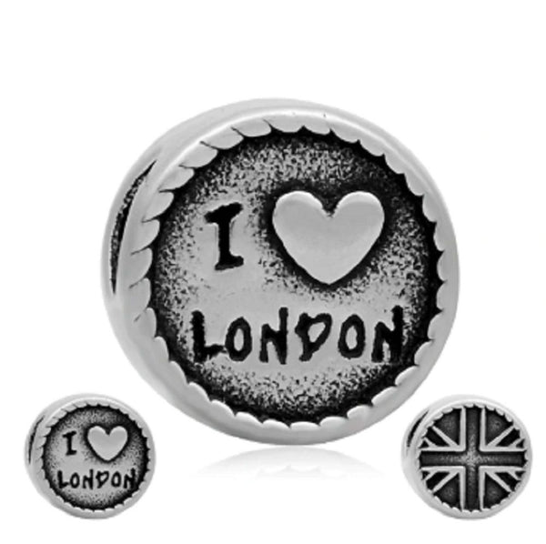 Stainless Steel I Love London Charm Bead